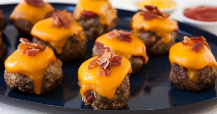 Bacon Cheeseburger Mini Meatloaves