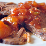 Crock Pot BBQ Beef Brisket with Mango BBQ Sauce Recipe