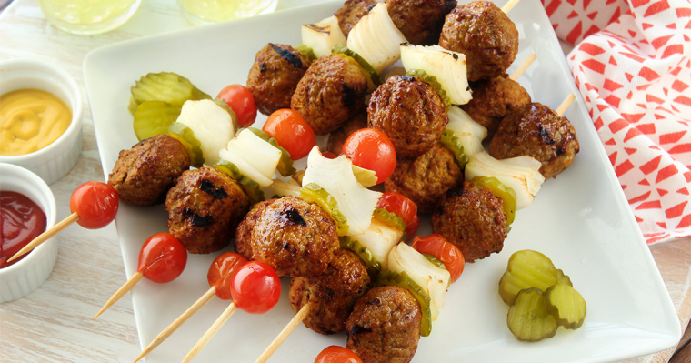 Turkey Burger Kebabs