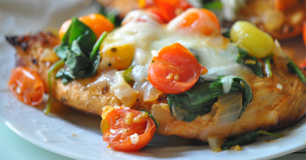 Chicken with Tomato Topping and Mozzarella Cheese 2