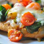 Chicken with Tomato Topping and Mozzarella Cheese Recipe
