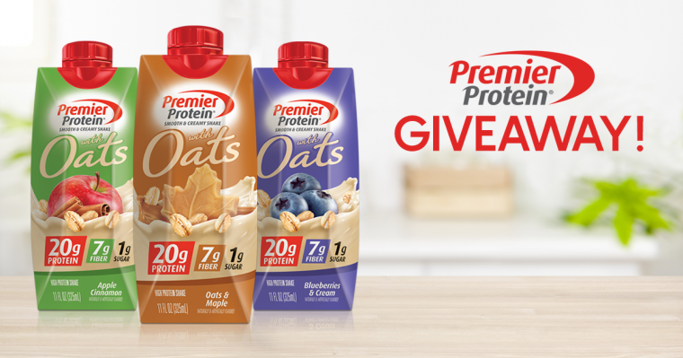 Premier Protein Shakes with Oats Giveaway