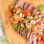 Flank Steak with Tomato Basil Salad Recipe