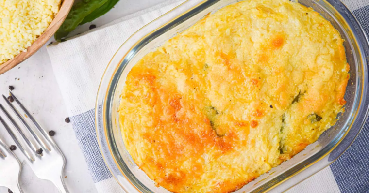 Spaghetti Squash Au Gratin Low-Carb Side Dish