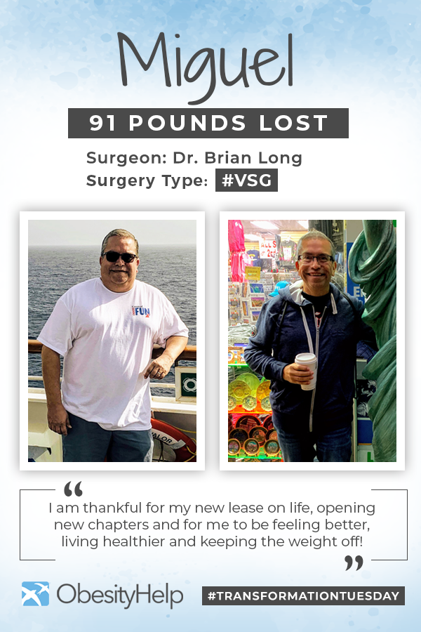 Pinterest Before & After VSG with Miguel