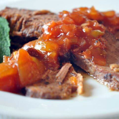 Slow Cooker Recipes - Brisket & Mango BBQ Sauce