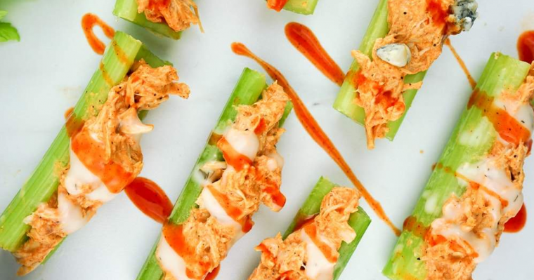 Buffalo Chicken Celery Bites