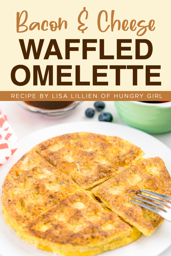 Bacon & Cheese Waffled Omelette Recipe