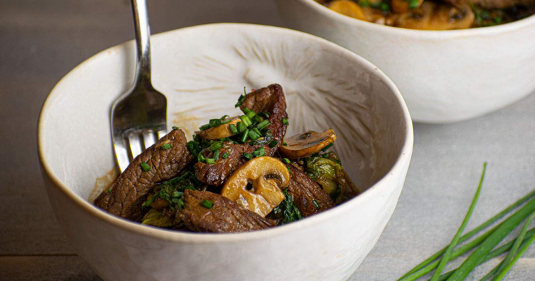 Beef & Bok Choy Stir Fry 1