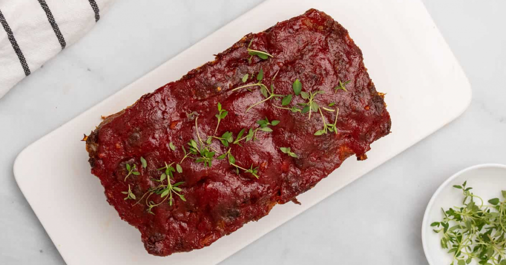 Lower Carb Meatloaf With Tomato Glace
