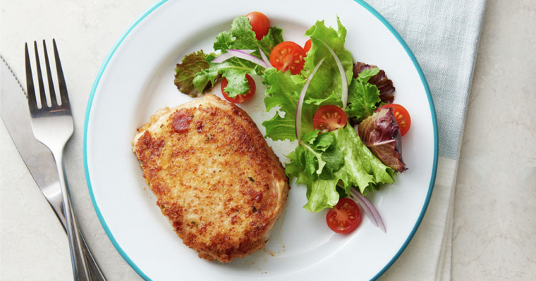 Parmesan-Crusted Pork Chop