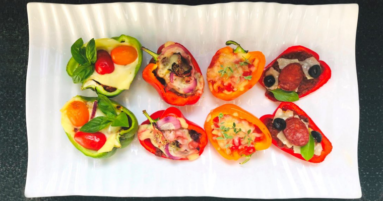 Protein Pizza Pepper Poppers