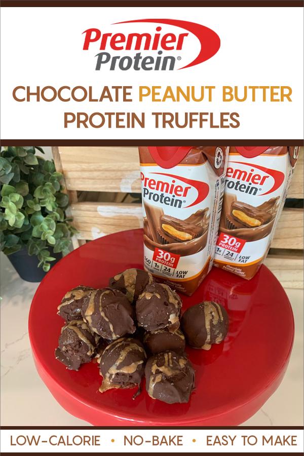 Chocolate Peanut Butter Protein Truffles