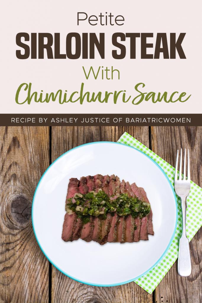 Petite Sirloin Steak With Chimichurri Sauce