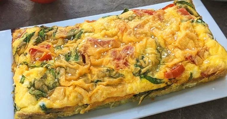 Omelette Breakfast Loaf