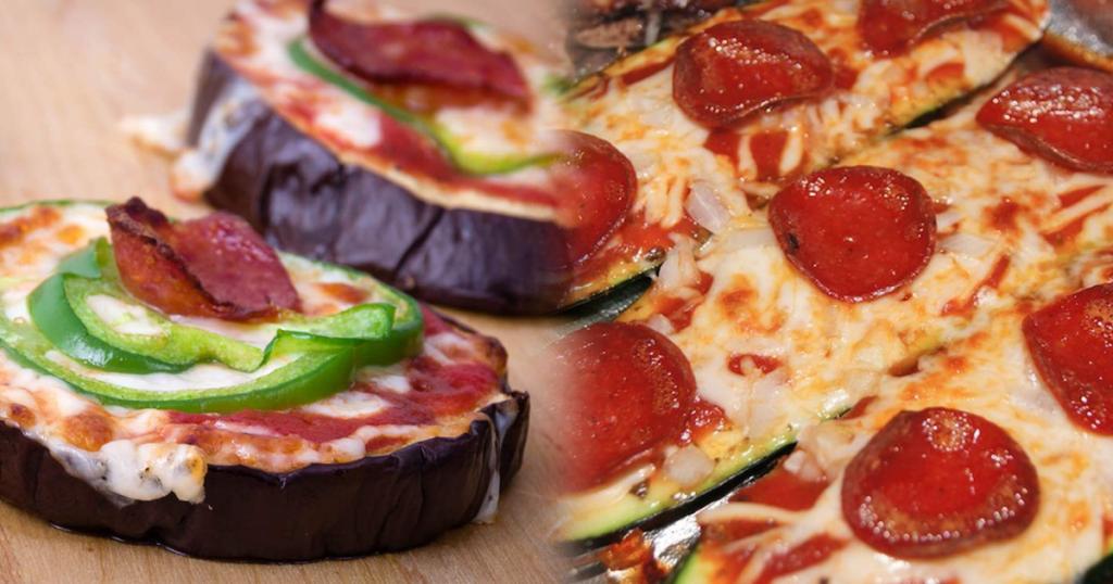 Eggplant & Zucchini Pizza Bites