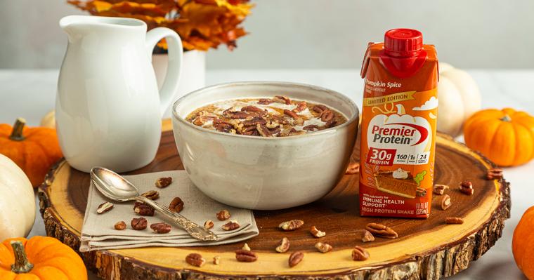 Pumpkin Spice Porridge a Premier Protein Recipe